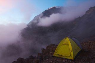 High Camp on Mt Kilimanjaro