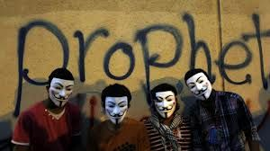 Rioters in Egypt V for Vendetta masks