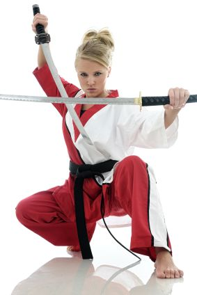 female martial artist.