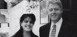 US President Bill Clinton and intern Monica Lewinsky