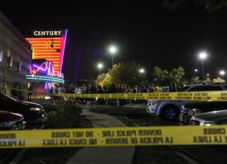Scene of the Aurora, Colorado shooting