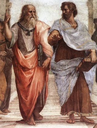 """The School of Athens"", detail by Raphael c.AD 1550"