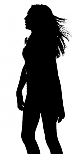 Teen girl silhouette by Mike Baird