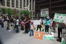 Protest against coal