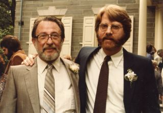 Victor E. Beresin (left) and Gene Beresin at Gene's wedding