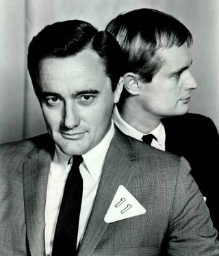Robert Vaughn and David McCallum, Man from U.N.C.L.E., courtesy of Creative Comm