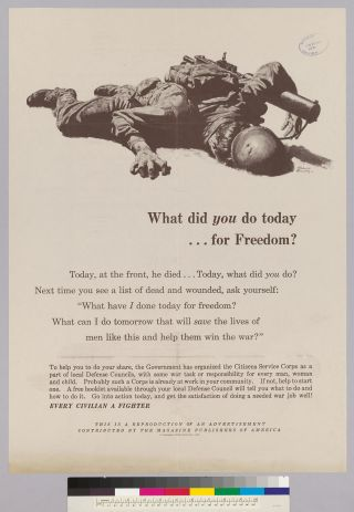 What did you do today...for Freedom?