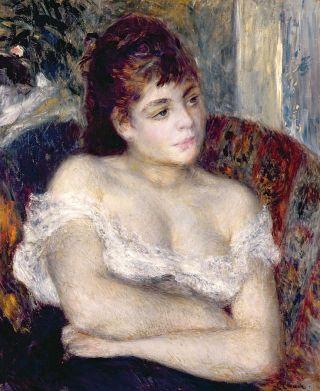 Woman In an Armchair by Pierre-Auguste Renoir