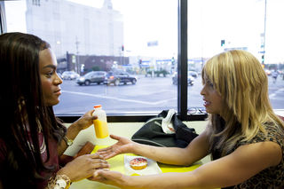 Mya Taylor and Kitana Kiki Rodriguez in Tangerine. Photo courtesy of Magnolia Pictures.