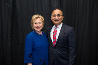 Author, Dinesh Sharma with HRC