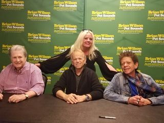 Brian Wilson, Al Jardine and Blondie Chaplin with Maureen Seaberg