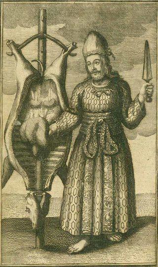 Illustration aus Amelius Erörterung der dunckelsten und schwersten Schrifft-Stellen/Wikimedia Commons