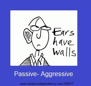 The passive aggressive man in a relationship