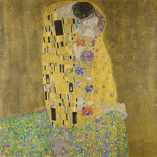 """The Kiss,"" by Gustav Klimt, wikimedia commons, public domain"