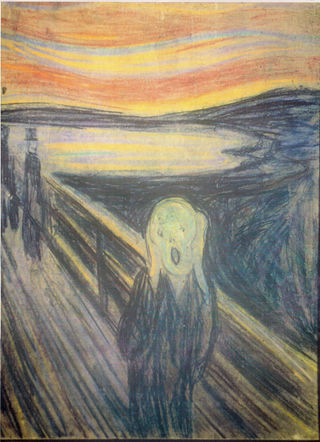 Edvard Munch, The Scream 1893. Oil pastel and  casein  on cardboard. Oslo National Gallery, Oslo. Reproduced with  permission.