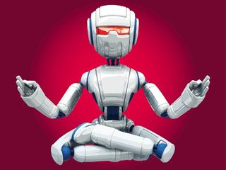 Free Vector/Meditating Robot