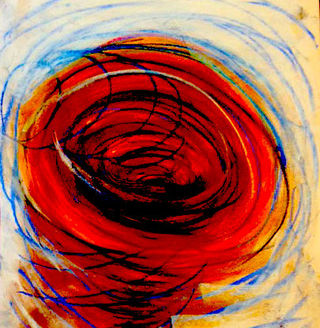 """Worry Tornado,"" worry drawing from the collection of C. Malchiodi, PhD @2014"