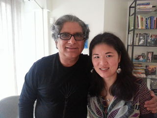 Kristin with Dr. Deepak Chopra- photo belongs to Kristin Meekhof