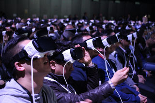 Samsung's Virtual Reality MWC 2016 Press Conference | by pestoverde, labeled for reuse, Flickr