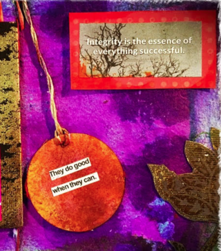 """© 2017 From """"Altered Book of Integrity,"""" C. Malchiodi, PhD"""