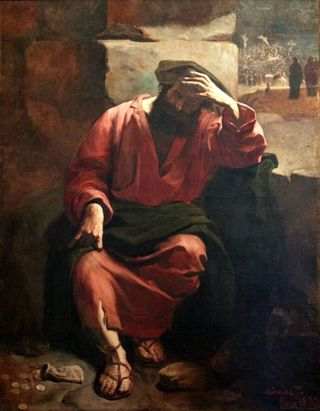 """Remorso de Judas,"" by Almeida Junior. Via wikimedia commons"