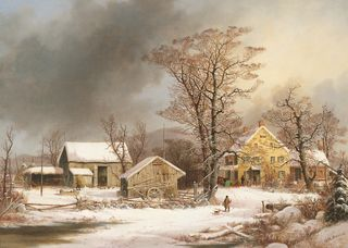 A Cold Morning' (1861)/Wikimedia Commons
