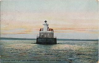 The Penfield Reef Lighthouse on a postcard/Wikimedia Commons