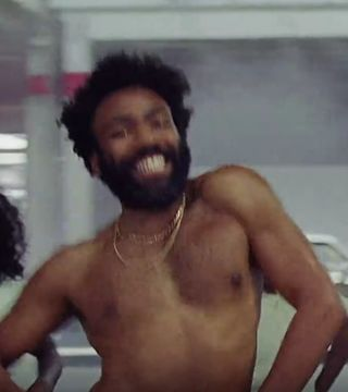 Childish gambino song about black girl not dating black guy