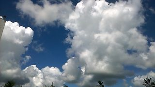 The image is full of sky and clouds on a sunny day. Meena Yarlagadda –11 Sept 2017. wikimedia commons