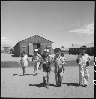 Manzanar Relocation Center by Dorothea Lange/Wikimedia Commons