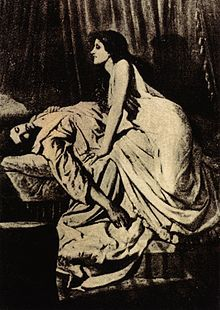 """The Vampire"" by Philip Burne-Jones, public domain."