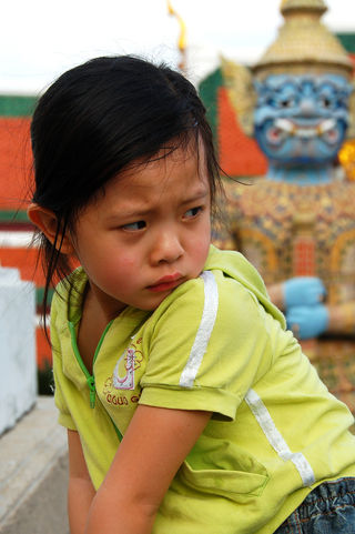 Unhappy Thai Child/Flickr
