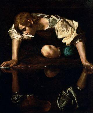 Wikipedia Narcissus by Caravaggio