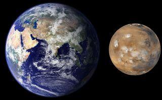 """Mars Earth Comparison 2"" by NASA/JPL/MSSS"