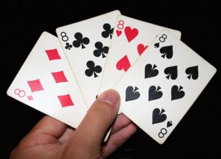 """""""8 playing cards"""" by Enoch Lau - Own work (photo). Licensed under CC BY-SA 3.0 via Commons - Wikimedia"""