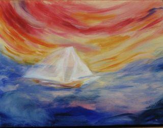 Life's Colorful Journey, original oil, F.J. Ninivaggi