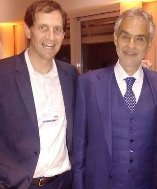 Daniel Shapiro with Andre Bocelli
