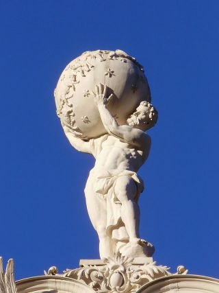 """Atlas on top of Schloss Underhof"" by Gustavo Trapp/ Wikimedia Commons"