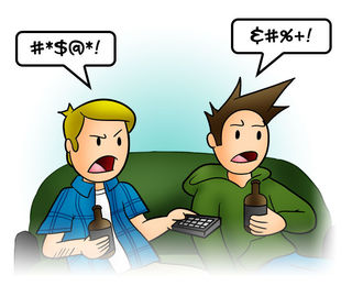 Jay & Trey Cartoon Swearing/Wikimedia Commons by Threeboy