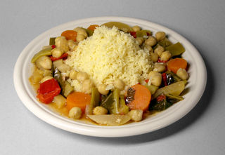Couscous with vegetables and chickpeas