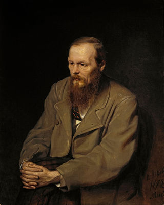 Vasily Perov - Портрет Ф.М.Достоевского, Google Art Project, public domain. The quote on the right references the Russian novelist Feyodor Dostoevsky who astutely observed that there are secrets (like racism) people manage to keep even from themselves.