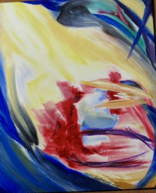 """Emotion Sensation,"" Frank John Ninivaggi, oil, 2006"