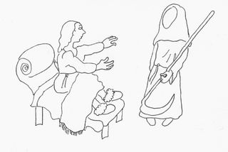 Drawing by E. Wagle from The Enneagram of Death