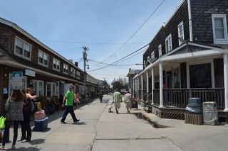 The view looking west in downtown Ocean Beach (Long Island Press photo)