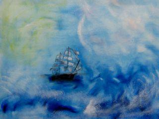 """Ongoing Journey,"" oil, FJ Ninivaggi, 2015"