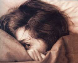 """""""Girl suffering from anxiety"""" by MikaelF/Wikimedia Commons"""