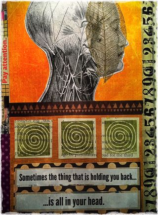 "© 2016 ""What's Holding You Back?"" from the visual journals of C. Malchiodi, PhD"