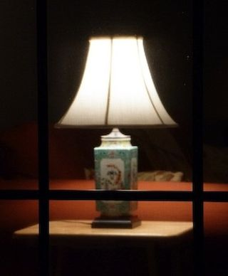 Lamp in Window Photograph Copyright © 2017 by Susan Hooper