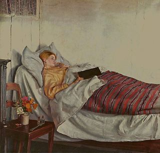 """The Sick Girl"" by Michael Ancher"