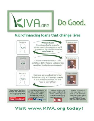 My Kiva.org Flyer by Ramon Kolb Licensed Under Flickr CC BY 2.0